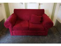 Comfy spotless red sofa
