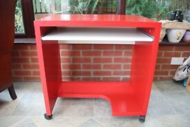 Red Ikea office desk
