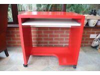 Red Ikea office desk
