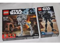 2 x LEGO STAR WARS ROGUE ONE sets AT-ST WALKER inc 3 minifigures + IMPERIAL DEATH TROOPER - NEW