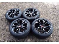 "Genuine 18"" Citroen DS4 Black Alloy Wheels 225/45R18 Michelin Pilot Sport Tyres"