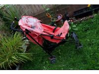 Mothercare salmon pink pram with Raincover