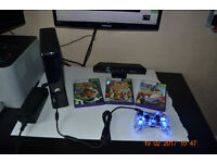 Xbox 360 + Controller + Kinect Sensor + Games