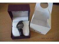 Brand New unisex black ceramic watch Accurist