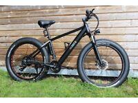 Fat Tyre Electric Mountain Bike 250 Watts, 5 speed, 36 volts, 18 inch frame, Fat Kendra tyres