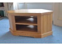 Pine Television Stand with DVD/Blue ray shelves