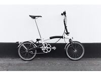 Brompton M3L Folding bike cream color (NEW PARTS) 2012 year