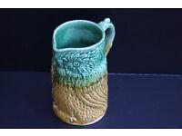Antique Ceramic Water Jug / Pitcher Shaped like an Bird, Owl. Vintage Milk Jug Possibly Majolica