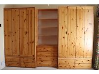 Bedroom furniture by FLEXA - two wardrobes, drawers and shelving unit