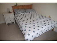 Handmade Pine Double Bed and Mattress