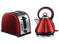 Russell Hobbs Legacy Kettle + 4-Slice Toaster ***Metallic Red***