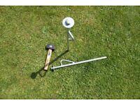 Mooring stakes & hammer