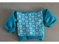 Child's Turquoise Snowflake Jumper