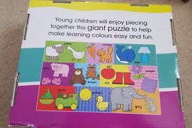 MY FIRST GIant FLoor Puzzle 48 pieces First Colours English Educational