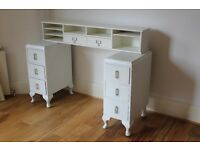 Free bedroom furniture due to move - side tables / desk / chest of drawers.