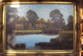 Oil Landscape by MALCOLM GEARING 1975 Ibsley in Hampshire 90cm x 60cm