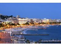 £685/week for a family of 4 in beautiful Cannes on the French riviera in August