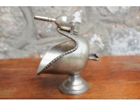 Vintage Silver Plate Coal Scuttle / Sugar Scoop EPNS Sweet Dish Antique