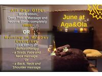 JUNE OFFER @ Aga&Ola Massage&Beauty!