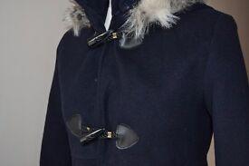 Made in Italy • Women's Navy Coat • Size M / UK 8 /10 •