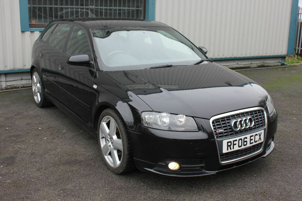 audi a3 2 0 tdi s line 5dr black 2006 in walsall west midlands gumtree. Black Bedroom Furniture Sets. Home Design Ideas