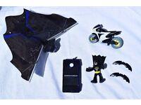 Fisher Price Imaginext DC Comics Batman Figure + Bike & Science Museum Robo Bat Bundle