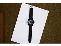 Gents Crosshatch watch,Black.