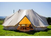Bell Tent - Life Under Canvas - 6m Emperor w/stove hole + inner bedroom