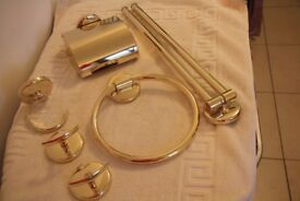 Gold coloured bathroom fittings etc