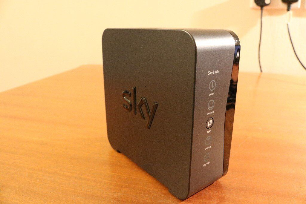 Sky Hub wireless router (black)