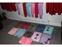 Job Lot of Pashminas mixed colours. Quality items. To clear ideal ebay, carboot re-seller items