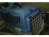 Strong plastic pet carrier