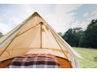 3 metre Deluxe Bell Tent with sewn in ground sheet - Good condition ex-rental (Four available!)