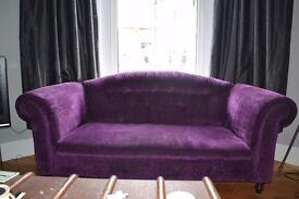 Vintage purple chesterfield - 2.5 seater
