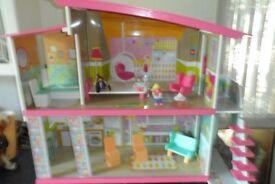 wooden dolls house ELC.
