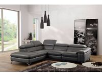 ORION BRAND NEW NATURAL LEATHER CORNER SOFA power electric recliner chair WE CAN Delivered