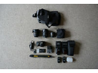 NIKON D3200 WITH LENSES AND ACCESSORIES