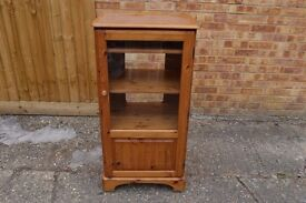 Solid Pine Audio Record Player Hi-Fi Stereo Unit Cupboard Cabinet Delivery Available