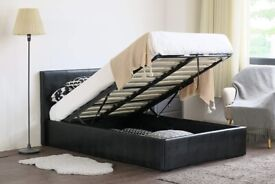 🎆💖🎆Highest Quality🎆💖🎆OTTOMAN GAS LIFT UP DOUBLE BED FRAME WITH MATTRESS OPTION