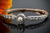 Art Deco Armreif mit Diamanten & Perle 585er Rotgold mit Weißgold Nordrhein-Westfalen - Wegberg Vorschau
