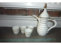 Porcelain Yamasen Arabian/Turkish Dallah Coffee Pot and 8 Cups