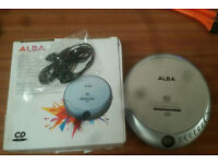 Alba LCD Display CD/R CD/RW Personal CD Player Silver Jog proof