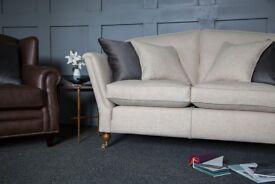 Duresta Ruskin 2str (180cm wide) covered in designer 100% wool fabric - Brand New Condition
