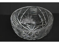 Large Vintage Waterford Crystal Bowl Irish Hand Cut Gothic Mark Cristal Fruit Bowl