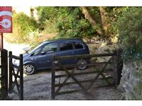 SET OF WOODEN GATES AND POST HEAVY DUTY