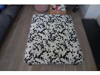 COLLECTION ONLY: large dalmatian print pouffe