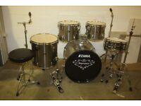 "Tama Imperial Star Platinum Grey 5 Piece Drum Kit (22"" Bass) + Stands, Stool & Cymbal Set"