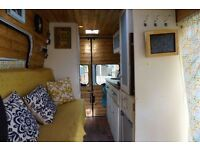 Summer 2016 van conversion. Fully self-sufficient with solar panels, fridge, gas hob, sink & toilet