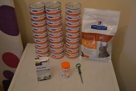 Hills Prescription Diet K/D Wet Food and Biscuits + Pronefra and Ipakitine and Tablet Injector