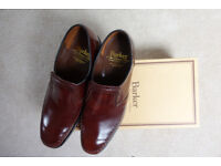 Barker men's slip on leather shoes worn just twice in mint condition size 10 in brown.